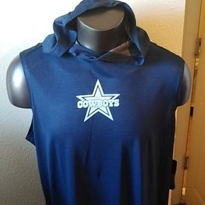 Dallas Cowboys Men's Dry Fit Sleeveless Hoodie top